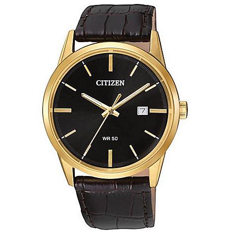Citizen_Men's_39mm_Quartz_Date_Window_Leather_Strap_Watch