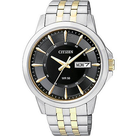 Citizen_41mm Day_&_Date Textured_Dial Bracelet_Watch