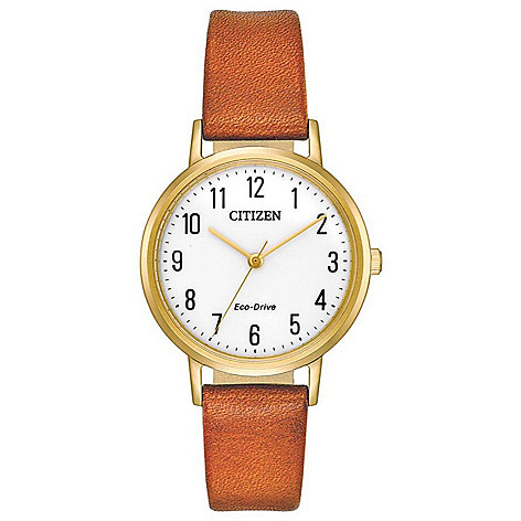 Citizen_Women's_Chandler_Eco-Drive_Leather_Strap_Watch