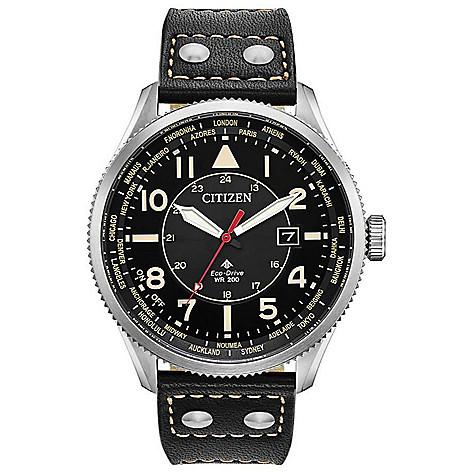 Citizen_Men's_44mm_Promaster_Nighthawk_Eco-Drive_Leather_Strap_Watch