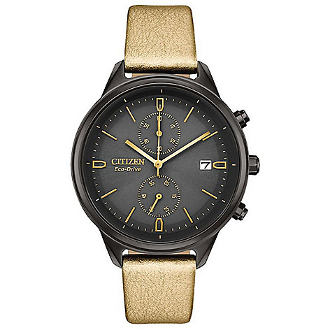 Citizen_Women's_Chandler_Eco-Drive_Chronograph_Synthetic_Leather_Strap_Watch