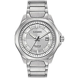 Citizen Men's 43.5mm Eco-Drive Date Window Titanium Bracelet Watch