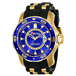 Invicta Men's 48mm Pro Diver Scuba GMT Quartz Strap Watch w/ 3-Slot Dive Case