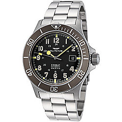 Glycine Men's 42mm Combat Sub Swiss Made Automatic Stainless Steel Bracelet Watch