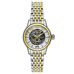 Oris Women's Swiss Made Automatic Skeletonized Stainless Steel Bracelet Watch