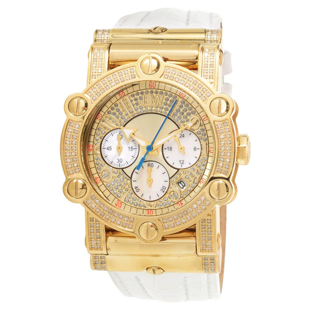 JBW 42mm 10-Year Anniv Phantom Quartz Chrono Diamond & Crystal Accented Strap Watch - 675-064