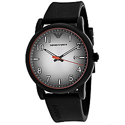 Emporio Armani Men's 42mm Quartz Date Silicone Strap Watch
