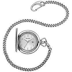 Bulova Men's 50mm Classic Quartz Pocket Watch w/ Chain