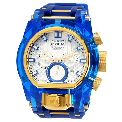 Invicta Weekender Dive Case Included - STARTING AT $39.99 - 675-287 As Is Invicta Men's 52mm Bolt Magnum Anatomic Quartz Chronograph Strap Watch