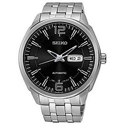 Seiko Men's 44mm Recraft Automatic Stainless Steel Bracelet Watch
