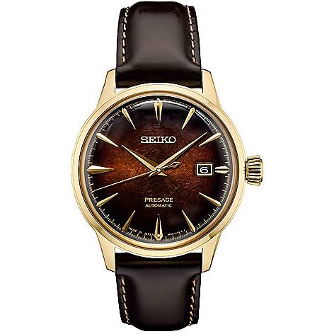 Seiko_Men's_40mm_Presage_Automatic_Date_Leather_Strap_Watch