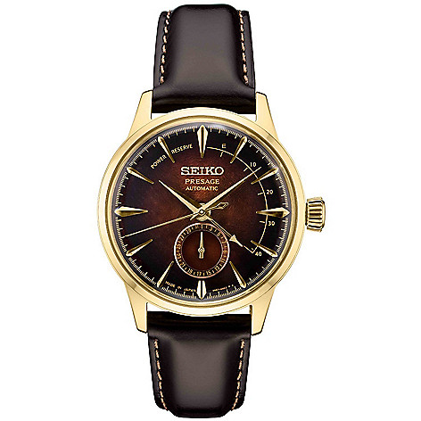 Seiko_Men's_40mm_Presage_Automatic_Date_Leather_Strap_Watch