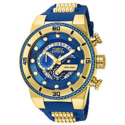 Invicta Men's 51mm S1 Rally Quartz Chronograph Date Silicone Strap Watch