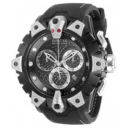 Eyal's 2020 Invicta Picks Hot Timepieces up to 80% Off at ShopHQ 675-767 Invicta Reserve Men's 52mm Venom Viper Swiss Quartz Chronograph Strap Watch