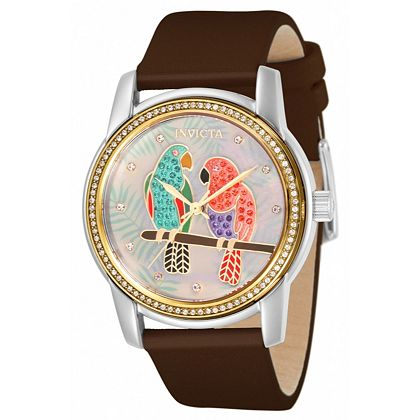 Watch Flash Sale - Up to 75% Off 675-770 Invicta Women's Angel Island Living Quartz Crystal Accented Watch