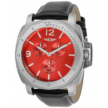 Invicta Live From the Marine Pavilion at ShopHQ    675-805 I by Invicta 45mm Quartz Multi Function Leather Strap Watch