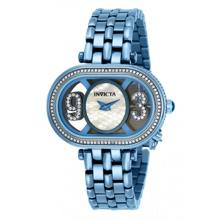 Invicta Just for Her Style Your Smile at ShopHQ 675-812 Invicta Women's Subaqua Charm Quartz Crystal Accented Stainless Steel Bracelet Watch