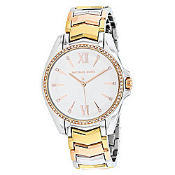 Michael Kors Women's Whitney Quartz Crystal Accented Stainless Steel Bracelet Watch