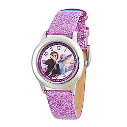 Disney® Frozen 2 Elsa Anna Kids' 32mm Quartz Leather Strap Watch