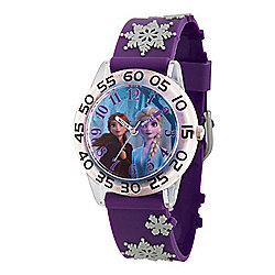 Disney® Frozen 2 Elsa and Anna Kids' 32mm Quartz Time Teacher Plastic Strap Watch