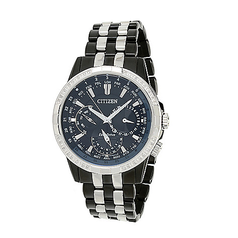 Citizen_Men's 44mm_Eco-Drive Calendrier Diamond_Accented Bracelet_Watch