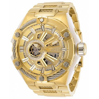 Invicta at  ShopHQ | 676-385 Invicta Men's 50mm S1 Rally Automatic Open Heart Stainless Steel Bracelet Watch