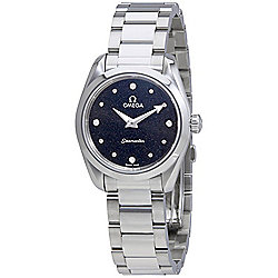 Omega Women's Seamaster Swiss Made Quartz Diamond Accented Stainless Steel Bracelet Watch