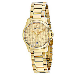 Gucci Women's Swiss Made Quartz Date Display Stainless Steel Bracelet Watch
