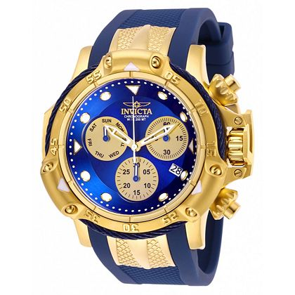Invicta Holiday Savings - Over 70% OFF - 676-640 Invicta Men's 50mm Subaqua Poseidon Quartz Chronograph Silicone Strap Watch