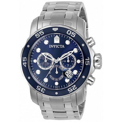 Invicta Men's Watches Check His Gift off Your List at ShopHQ | 676-809 Invicta Men's 48mm Pro Diver Scuba Quartz Chronograph Stainless Steel Bracelet Watch