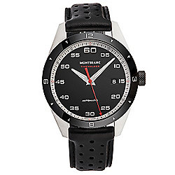 Mont Blanc Men's 41mm Timewalker Swiss Made Automatic Date Leather Strap Watch