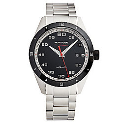 Mont Blanc Men's 41mm Timewalker Swiss Made Automatic Date Stainless Steel Bracelet Watch