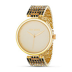 Steve Madden Women's Quartz Gold-Tone Alloy Bracelet Watch