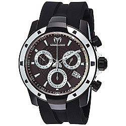 TechnoMarine Men's 45mm UF6 Quartz Chronograph Date Silicone Strap Watch