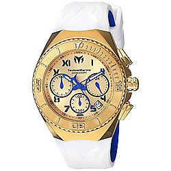 TechnoMarine Men's 40mm Manta Quartz Chronograph White Silicone Strap Watch