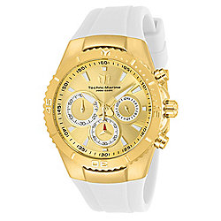 TechnoMarine Women's Manta Quartz Chronograph White Silicone Strap Watch