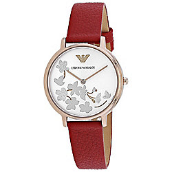 Armani Women's Quartz Leather Strap Watch