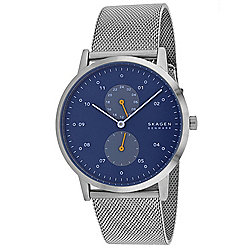 Skagen Men's 42mm Kristoffer Quartz Multi Function Stainless Steel Mesh Bracelet Watch