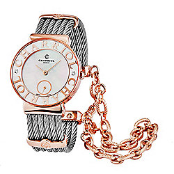 Charriol Women's St. Tropez Swiss Made Quartz Mother-of-Pear Dial Diamond Accented Bracelet Watch