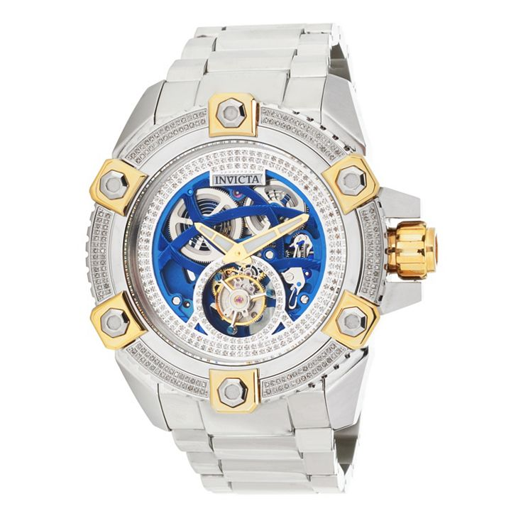 Our Samples, Your Savings up to 75% off at ShopHQ - 679-292 #1 Limited Edition As Is Invicta 63mm Grand Octane Tourbillon 1.60ctw Diamond Bracelet Watch