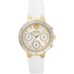 Versus Versace Women's Harbour Heights Quartz Chronograph Silicone Strap Watch