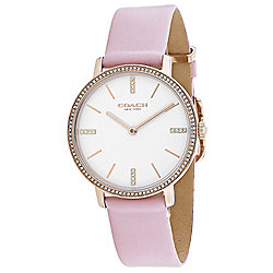 Coach - Over 50% OFF 680-089 Coach Women's Audrey Quartz Crystal Accented Pink Leather Strap Watch - 680-089