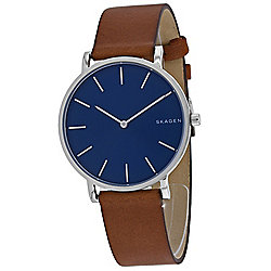 Skagen Men's 38mm Hagen Quartz Leather Strap Watch