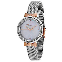 Ted Baker Women's Quartz Crystal Accented Mesh Stainless Steel Bracelet Watch