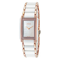 Rado Women's Integral Swiss Made Quartz Mother-Of-Pearl Stainless Steel & Ceramic Bracelet Watch