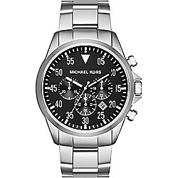 Michael Kors Men's 45mm Grace Quartz Chronograph Date Stainless Steel Bracelet Watch