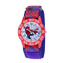 Marvel Spider-Man Boys' Quartz Time Teacher Blue Nylon Strap Watch