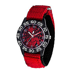 Marvel Spider-Man Boys' Quartz Black Time Teacher Nylon Strap Watch