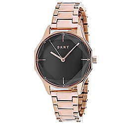 DKNY Women's Quartz Rose-Tone Stainless Steel Bracelet Watch
