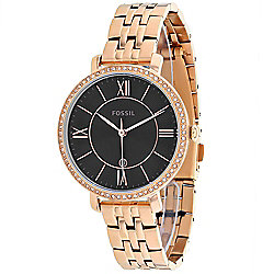 Fossil Women's Quartz Crystal Accented Date Stainless Steel Bracelet Watch